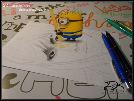 Minion is ruining my drawing!!